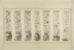Seven Plans of Roads leading from London to the Environs (Plan No. 8 to 14 of 14)